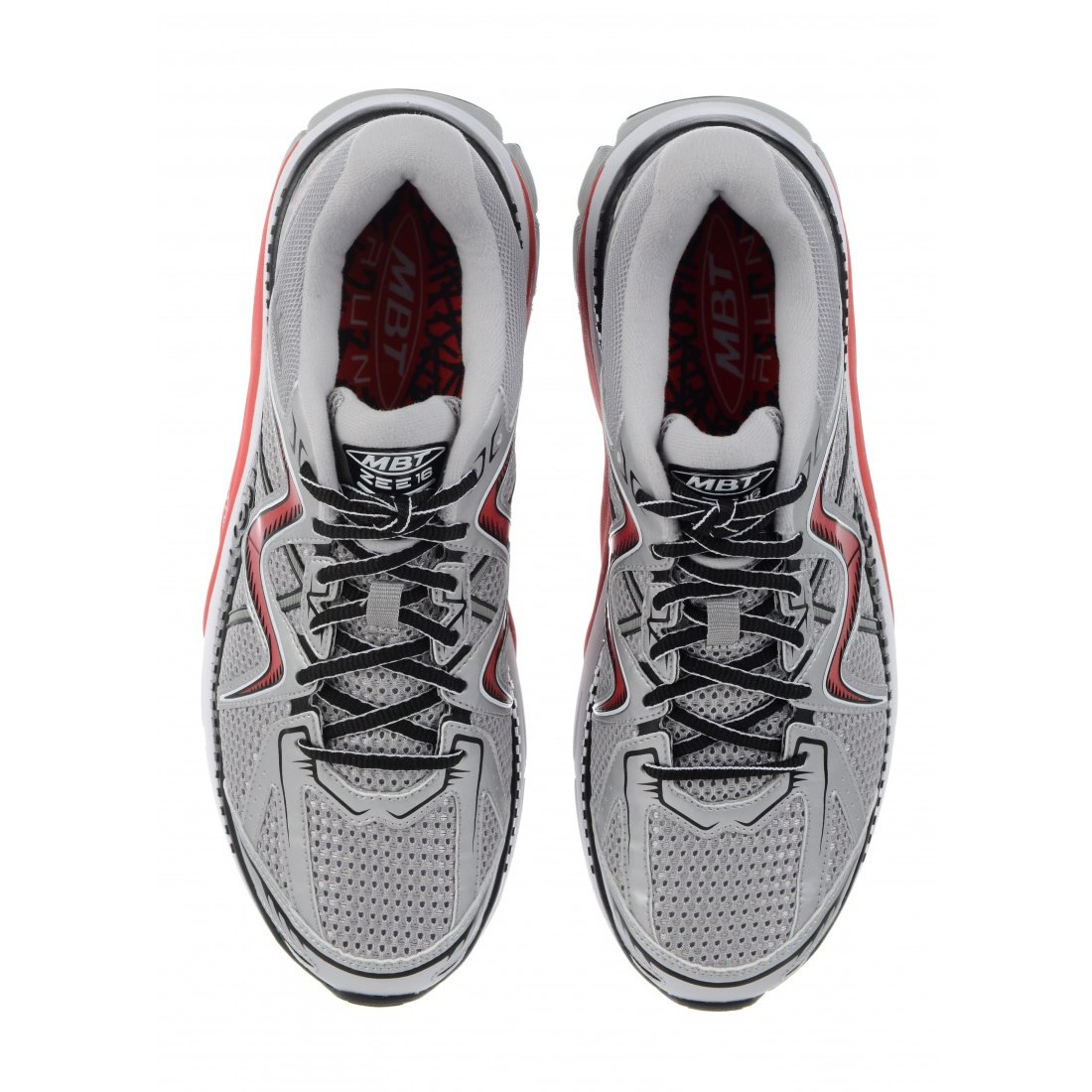 dc6ba46fcca6 MBT Zee 16 - Mens Running Shoes - White Red Silver